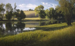 COYOTE POND, 24×42 (sold)