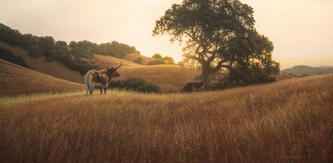 DAWN AT BUCK HILL RANCH, 15×30 (available at Sugarman-Peterson Gallery, Santa Fe)
