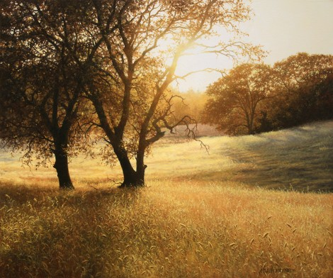 GOLD AT STEPHENS RANCH, 20×24  (sold)