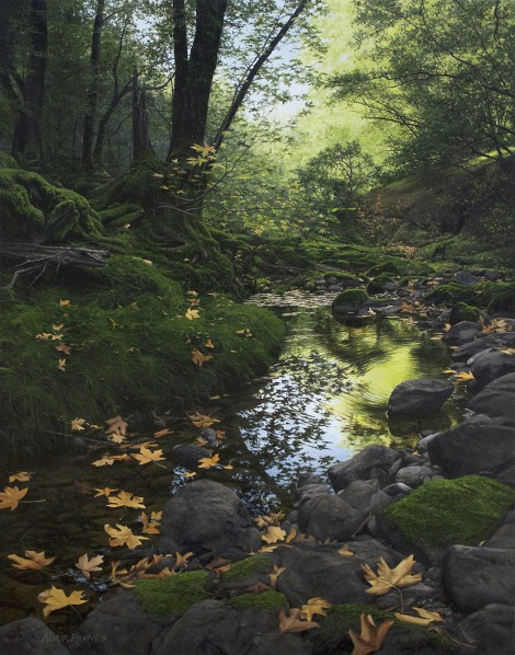 EARLY FALL, LAGUNITAS CREEK, 35×27 (sold)