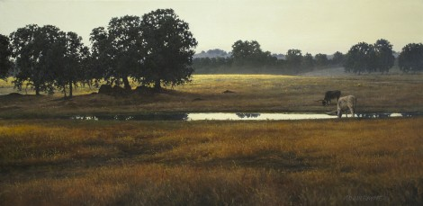 DUSK AT FLEMING RANCH, 12×24 (sold)