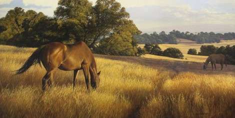 WHITNEY'S MARES, 24×48 (sold)