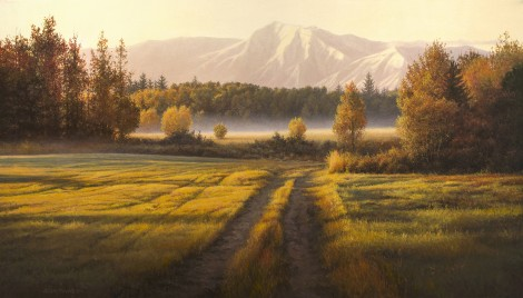 ROAD TO THE RIVER, 24×42 (available at Sugarman-Peterson Gallery, Santa Fe)