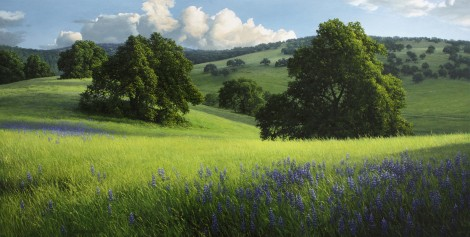 SPRINGTIME IN HIDDEN VALLEY, 24×48  (sold)