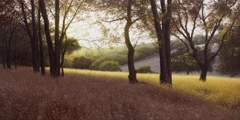 SUNDOWN AT WHISKEY RUN, 24×48  (sold)