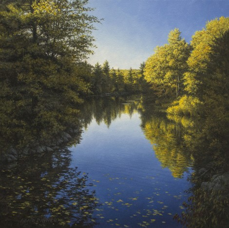 STEELS POND, 18×18 (sold)