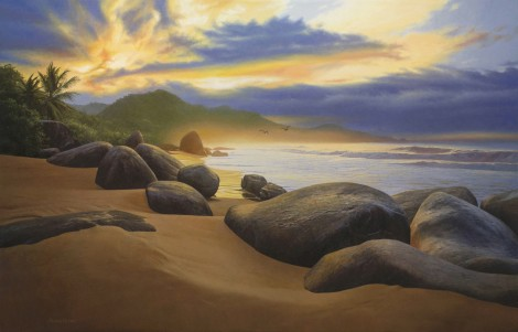TRINDADE SUNRISE, 32×50 (available at Sugarman-Peterson Gallery, Santa Fe)